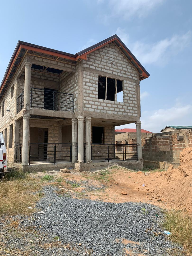 4 BEDROOM UNCOMPLETED HOUSE FOR SALE AT EAST LEGON HILLS