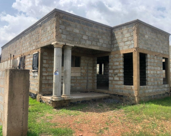 3 BEDROOM UNCOMPLETED HOUSE FOR SALE AT EAST LEGON HILLS