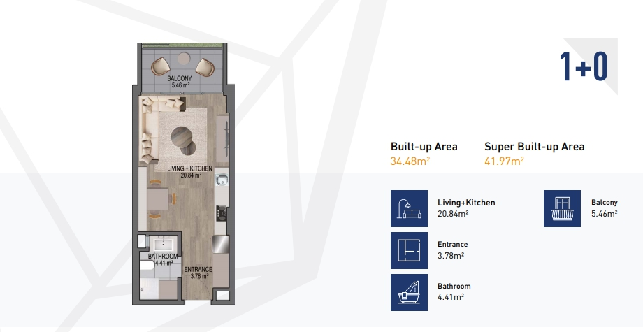STUDIO APARTMENT FOR SALE AT CANTONMENTS